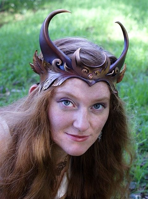 Goat Crown with Crescent Moon by Mythica Masks