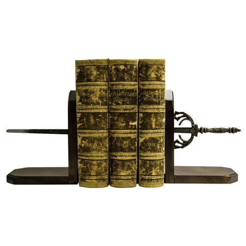 Our Sword Book Ends are a fantastic gift for any history aficionado! Their clever design creates the illusion that the books have been skewered by the sword.