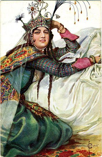 Царица Азвяковна 2. Соломко Сергей Сергеевич (1867-1928). Queen Azvyakovna 2 by Sergey Solomko (1867-1928