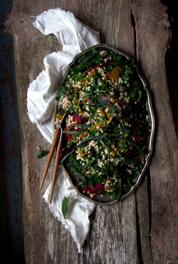 Buckwheat Salad w Sweet Turmeric Dressing   Fried Sage || Iceland || www.Earthsprout.com