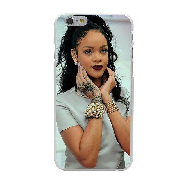 Custom Pop Star Rihanna Hard Case Transparent Cover for iPhone 7 7 Plus 6 6s Plus 5 5s 5c SE 4 4s