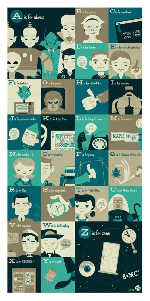 Twilight Zone ABCs on the Behance Network