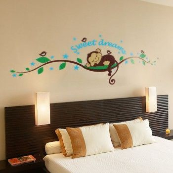 [$3.98] Monkey Tree Branch Home Room Art Mural Wall Sticker Decal Paper Removable