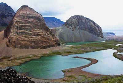Mounts Simoun and Diane, Kerguelen Islands.