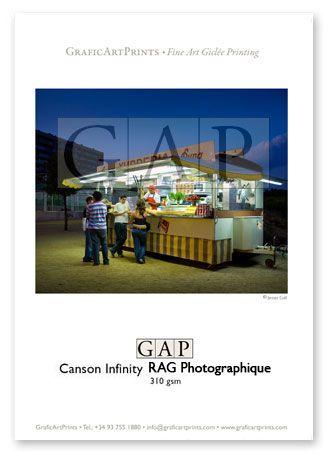 Muestra fotografía impresa en giclée sobre papel Canson Infinity RAG Photographique 310gsm por GraficArtPrints. © Jesús Coll