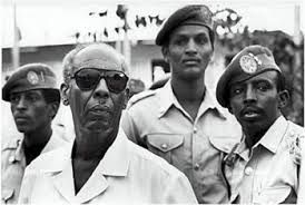 General Mohamed Siad Barre and his bodyguards in 1990.