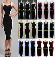 WOMENS casual Optical Illusion slimming ColOUR block WIGGLE Pencil MIDI Dress