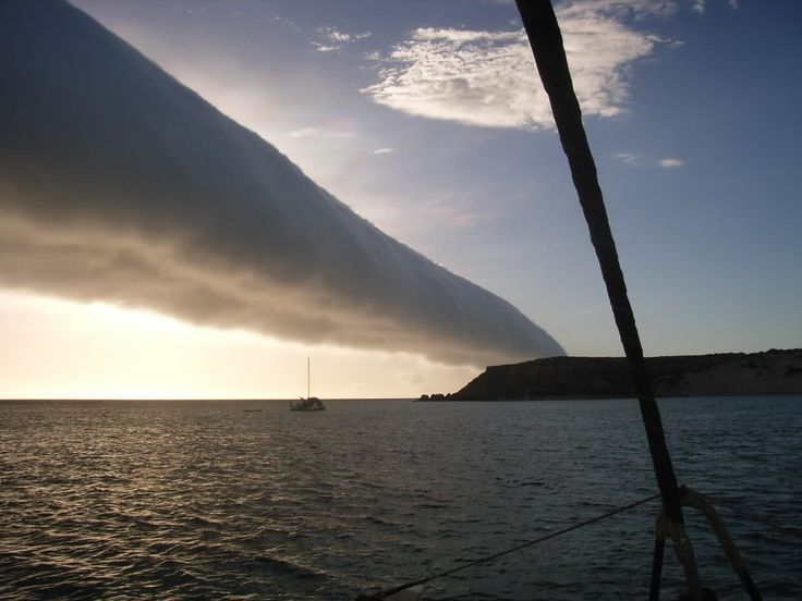Roll Clouds ~ Roll clouds (also known as Arcus clouds) are probably the most frightening to behold. Fortunately if you want to see one of these clouds you can – they form quite frequently in Australia's Gulf of Carpentaria. Despite its regular appearance in Australia, it is still not truly understood how these clouds are formed.