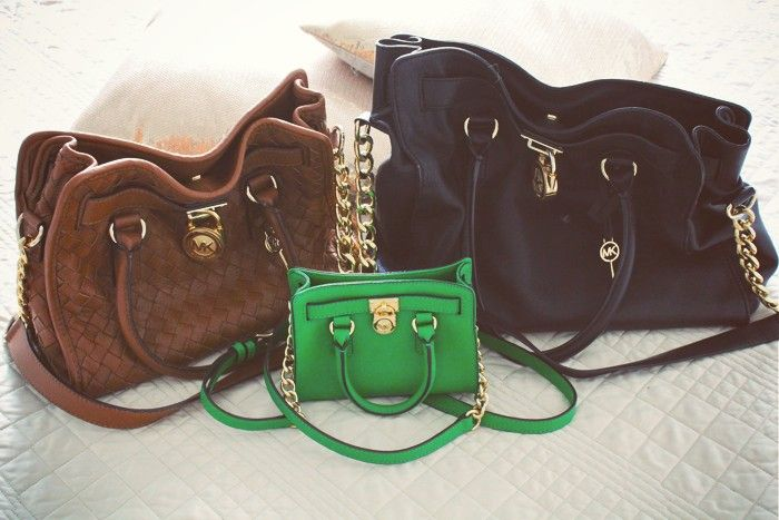 Michael Kors Hamilton bag in 3 different sizes