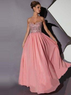 A-Linie/Princess-Stil Herz-Ausschnitt Ärmellos Chiffon Bodenlang Kleider - Lange Abendkleider - Abendkleider - BelleDress.de