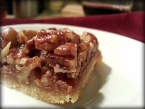Maple Pecan Sticky Bars with Maple #Bourbon