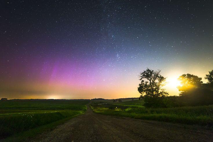 A calm Canadian summer night near Waterloo, Ontario, Canada.