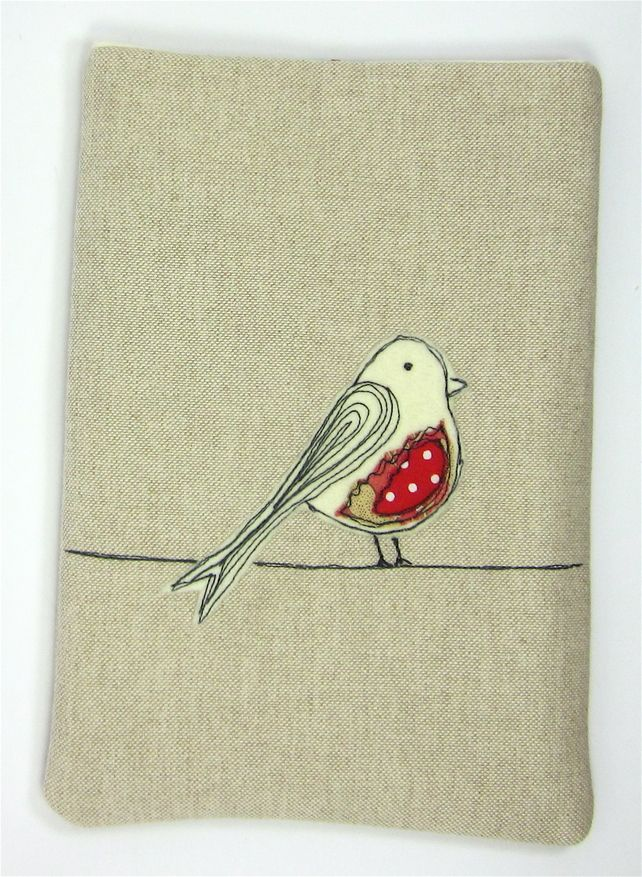 iPad Mini or Kindle Case Red Bird Applique £18.00