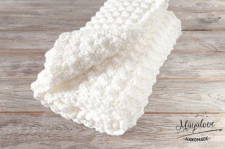 Babydecken - Kocyk bąbelki, biały, 70x90 cm - ein Designerstück von Mayalove- bei DaWanda