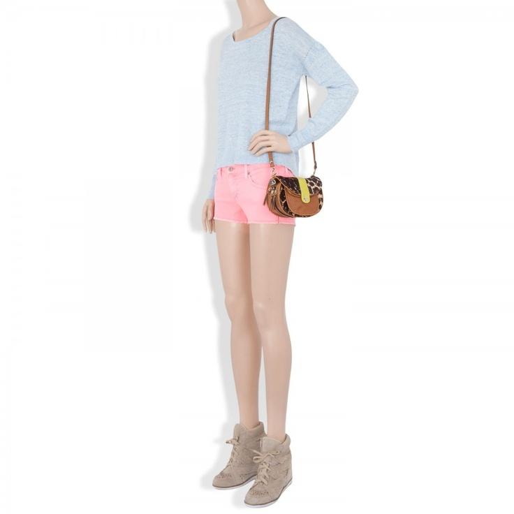 The Daisy Super Low Rise shorts, Denim, Harvey Nichols Store View