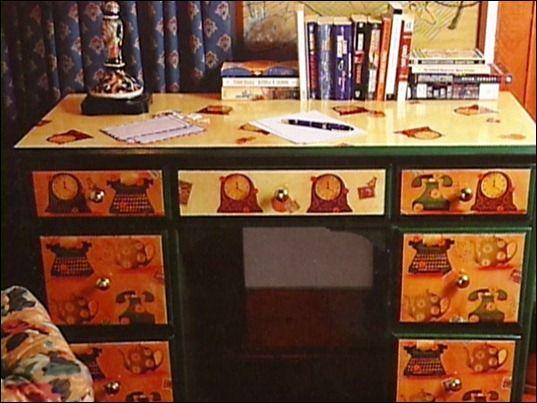 marya_iskysnica - Письменный  стол.  Декупаж, полет фантазии