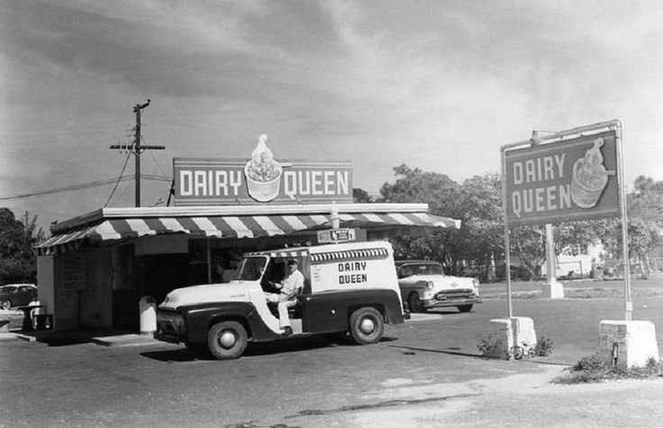 1956 Ford Ice Cream Refrigerated Delivery Truck At A Dairy