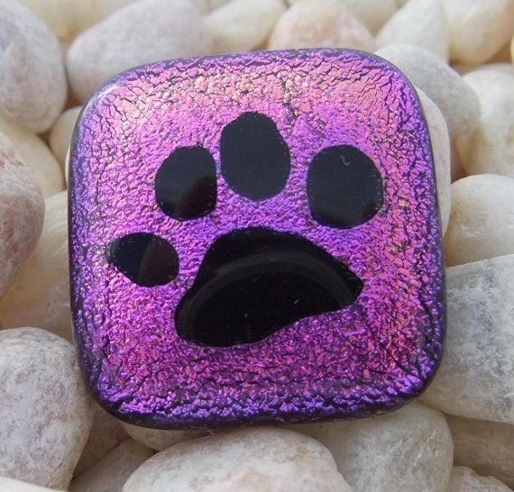 Pet Cremation Jewelry Paw Print Dog or Cat where your beloved pet's ashes are shaped into a heart and  permanently fused between layers of glass and seen from the back of the pendant by addicted2glassfusion, $50.00