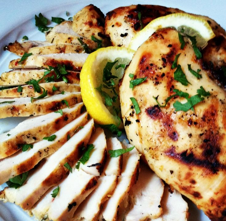Rosemary Chicken Breasts get a big dose of flavor from garlic and lemon. These are great for any phase -- just skip the oil in the marinade for Phase 1 and Phase 2.