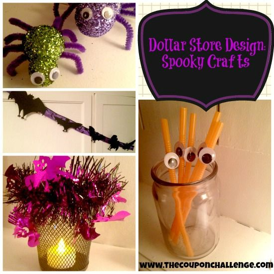 4 Spooky Crafts {All Supplies from Dollar Tree}: Spooky Crafts, Dollar Stores Halloween, Buy Crafts, Dollar Store Halloween, Dollar Trees, Halloween Boards, Halloween Crafts, Crafts Supplies, Halloween Diy