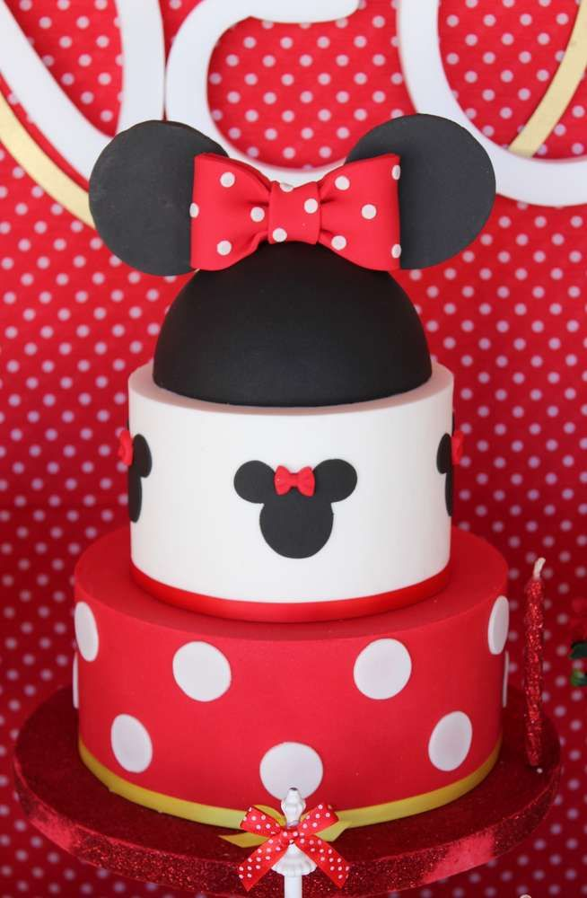 Minnie Mouse Birthday Party Ideas Photo 1 Of 19 Minnie Mouse Birthday Decorations Minnie Mouse Birthday Cakes Minnie Mouse First Birthday