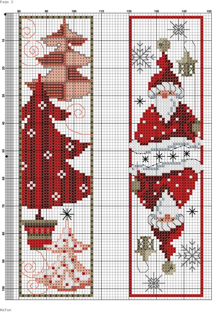 Cross Stitch Bookmarks - Christmas Gnomes and Tree