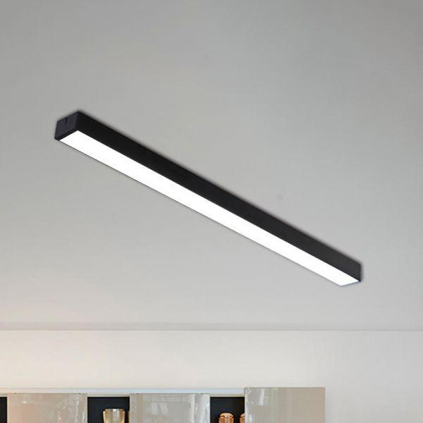 Linear Flush Mount Ceiling Lamp Contemporary Aluminum Black Led Light Fixture For Kitchen 35 Led Light Fixtures Flush Mount Ceiling Kitchen Lighting Fixtures