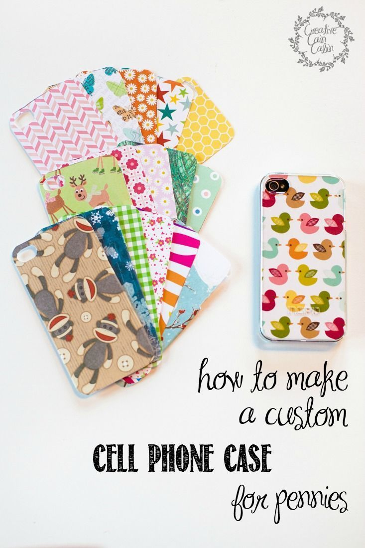 How to Make a Custom Cell Phone Case for Pennies | CreativeCainCabin.com- what a cool and fun idea!