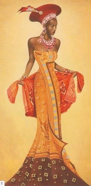 African Woman, a Lady - painting