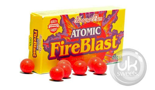 Atomic Fireblast. Visit our online shop - we deliver all over Australia! Great prices, great service and an amazing range of English Sweets & Lollies. www.uksweets.com.au