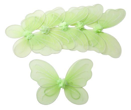 Amazon.com : 6pcs Set Tinkerbell Fairy Wings for Tinkerbell Party Favor : Tinkerbell Party Supplies : Toys & Games