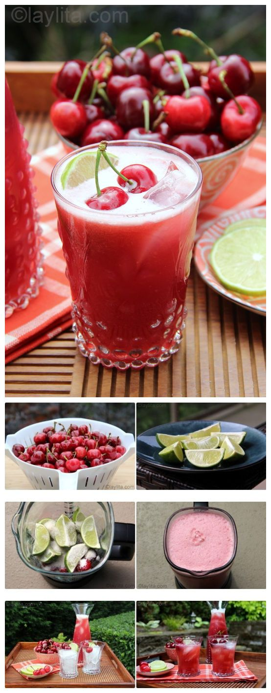 A recipe for cherry limeade. One of the most American drinks besides a root beer float or fresh squeezed lemonade