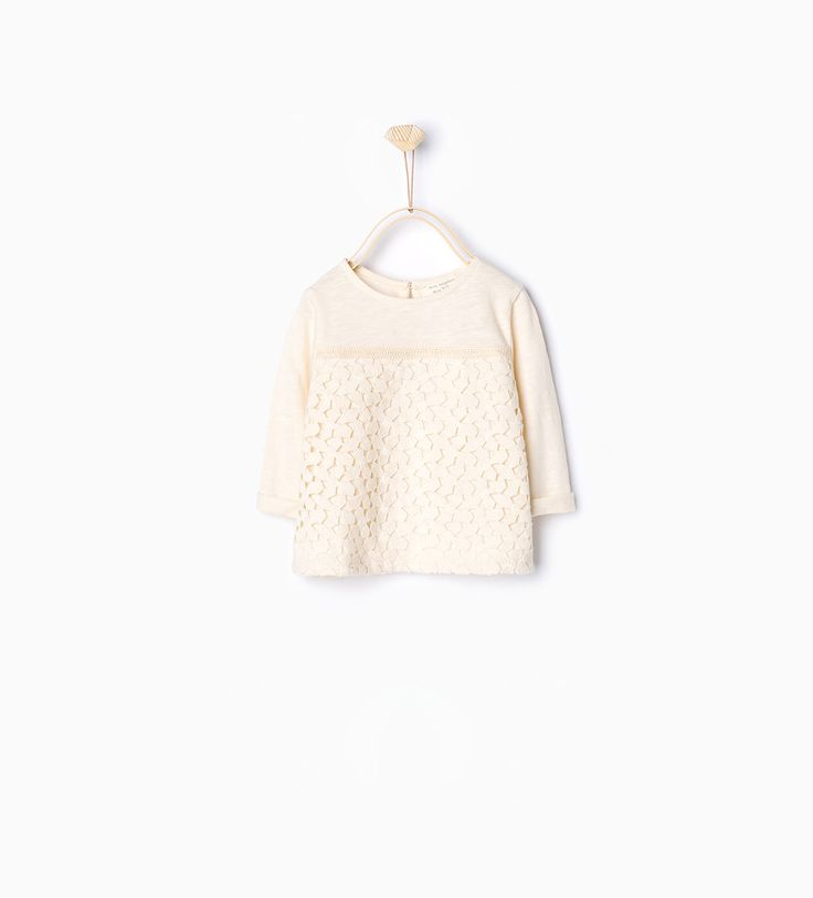 Guipure lace T-shirt-T-shirts-Baby girl-Baby | 3 months - 3 years-KIDS | ZARA United States