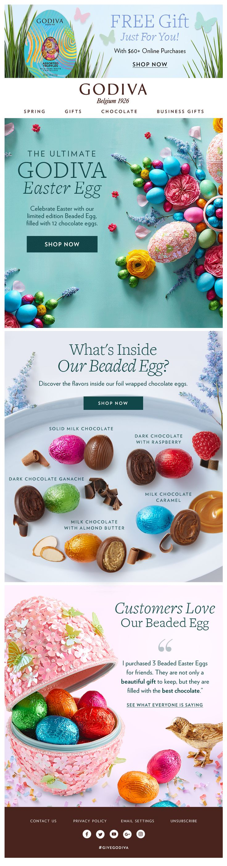 94 best easter emails images on pinterest email marketing godiva helps customers hop into spring with this bright and fresh easter inspired marketing newsletter negle