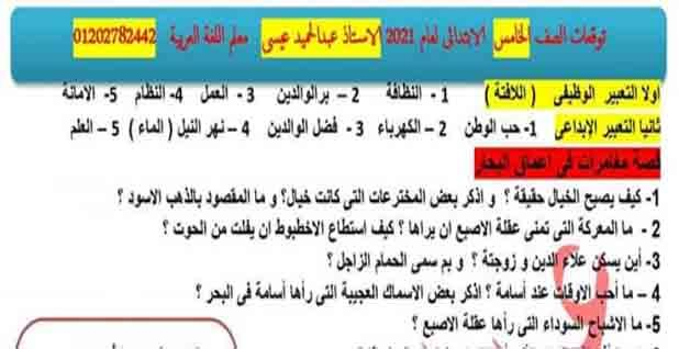 أهم توقعات امتحان اللغة العربية للصف الخامس الابتدائى 2021 الترم الاول للاستاذ عبدالحميد عيسى Periodic Table