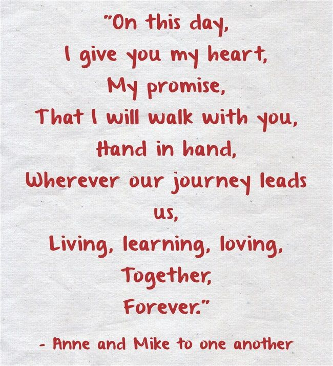 Real Wedding Vows For Her: 25 Heart-melting Real Couple Wedding Vow Ideas To Make You