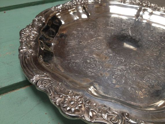 Vintage Silverplated Tray with Sunflower Design and by 4Good4Good $38.00 & 75 best Vintage \u0026 Antique Silver images on Pinterest   Antique ...
