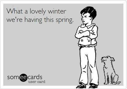This is so true here in VT, today March 23, 2014. Still lots of snow in my yard! Way more than ever for this time of year. P.R.