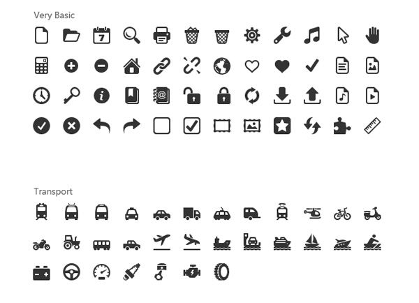 1000+ Windows 8 Metro Icons Pack 2 PNG - Over 1000 Windows 8 Metro icons collection - pack 2 - in PNG (7 size variations). For free font file see authors site.
