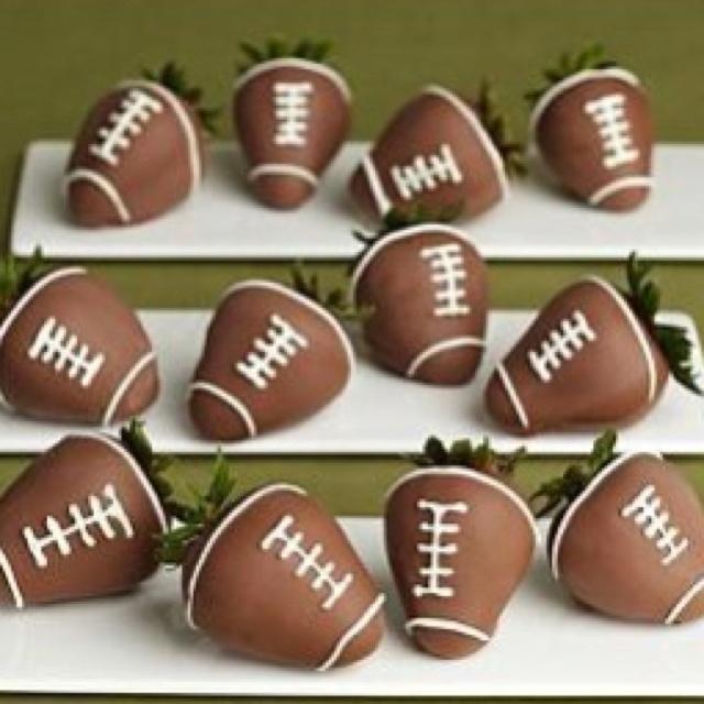 football chocolate strawberries