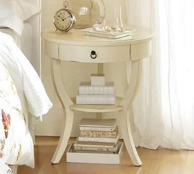 Carrie Pedestal Bedside Table #potterybarn: Carrie Pedestal, Guest Bedrooms, Tables Potterybarn, Pedestal Bedside, Master Bedrooms, Bedside Tables, Families Rooms, Pottery Barns, Bedrooms Ideas