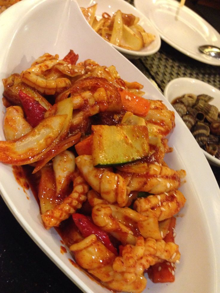 Ojinggo ~ Spicy calamari with gojuchang sauce