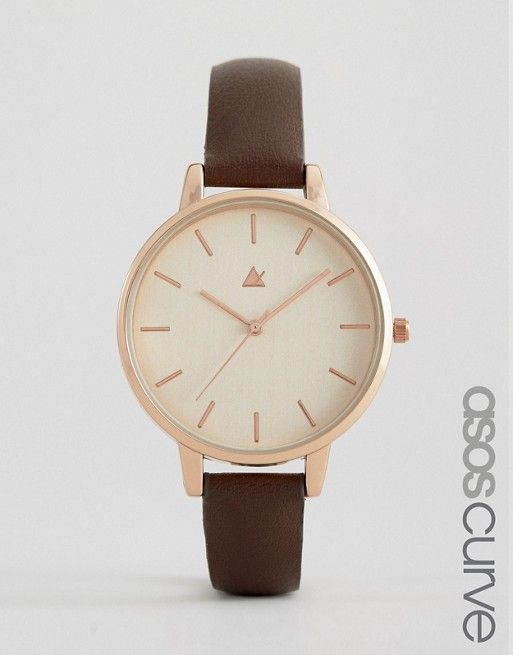 ASOS CURVE Large Face Clean Dial Watch