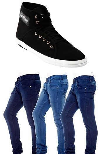 Shopping.indiatimes is offeringBacca Bucci Combo Of Black Men Casual Shoes With 3 Jeans – 999 At Rs 1356 How to catch the offer: Click here for offer page AddCombo Of Black Men Casual Shoes With 3 Jeansin your cart Apply offer codeSHOE10 Login or Register Fill the shipping details Make final payment