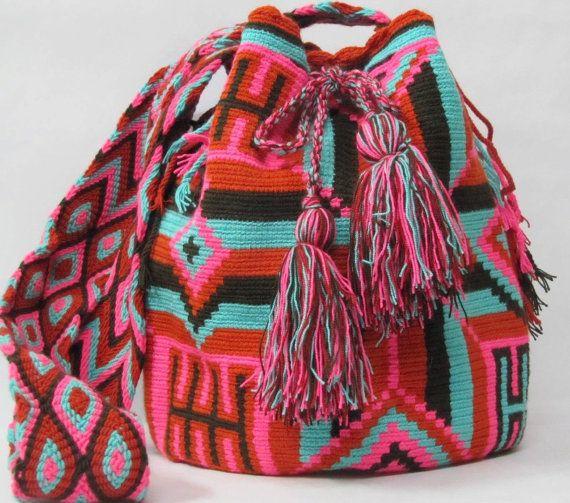 Pink Tribal Messenger Bagu by PavanaFit on Etsy