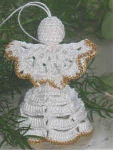 Gehäkelter Weihnachtsengel - schlicht und wunderschön - von Teddy's Handarbeiten