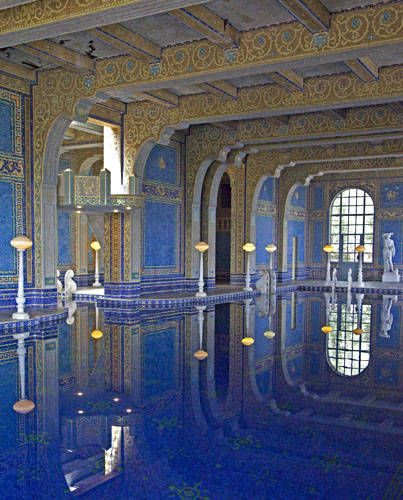 Hurst castle pool - This is the pool he let his servants use, because his guests preferred the outdoor pool.