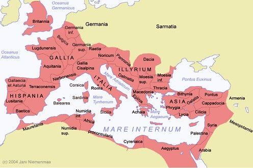 A divisão provincial do Império Romano
