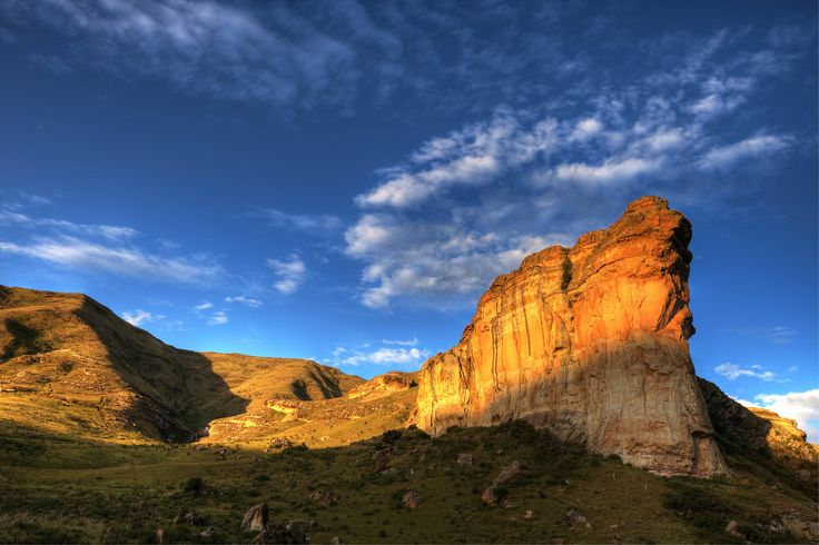 Drakensberg Time Lapse, South Africa.. Time lapse film of clouds and moving shadows in the Drakensberg Mountains, South Africa. Filmed in Go...
