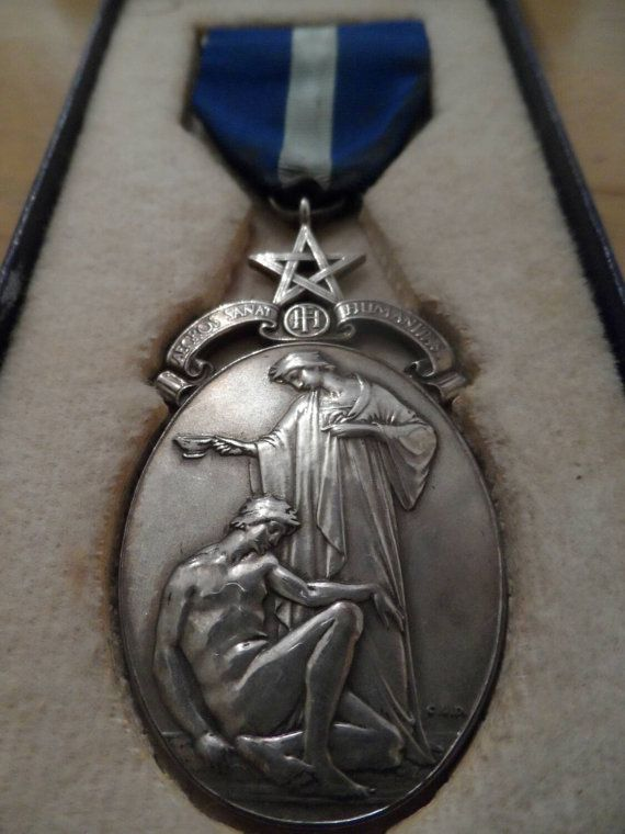 Hey, I found this really awesome Etsy listing at https://www.etsy.com/listing/208753016/aegros-sanat-humanitas-masonic-medal-in